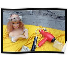 Doll on Yellow Poster