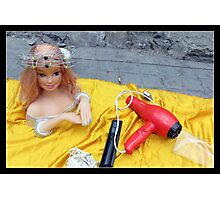Doll on Yellow Photographic Print