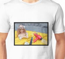 Doll on Yellow Unisex T-Shirt