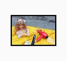 Doll on Yellow Unisex T-Shirt