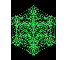 Infinity Cube Green Photographic Print