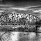 Arkadelphia Bridge B&W by wadesimages