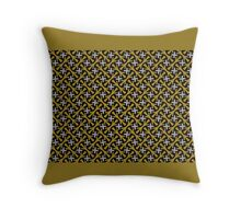 GOLD  with stars, GEOMETRIC art pattern Throw Pillow