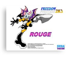 Rouge (Freedom Fighters 2K3) Canvas Print