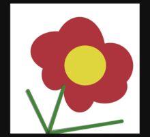 YELLOW and ORANGE flower design Baby Tee