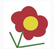 YELLOW and ORANGE flower design Kids Tee