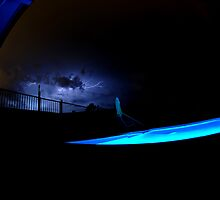 electric blue by Chris  Moncrieff