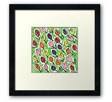 Tulips green Framed Print