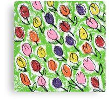 Tulips green Canvas Print