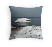 Lake Ontario Ice Throw Pillow