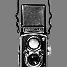 Classic Retro Rolleiflex Twin Lens Reflex Film Camera by Framerkat