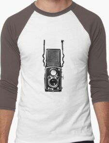 Classic Retro Rolleiflex Twin Lens Reflex Film Camera Men's Baseball ¾ T-Shirt