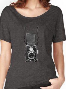 Classic Retro Rolleiflex Twin Lens Reflex Film Camera Women's Relaxed Fit T-Shirt