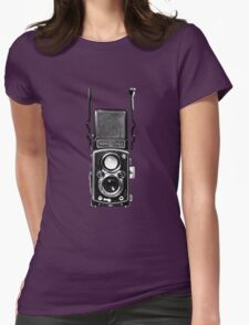 Classic Retro Rolleiflex Twin Lens Reflex Film Camera Womens Fitted T-Shirt
