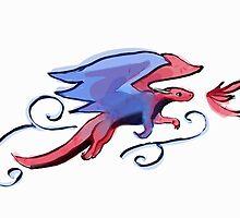 Spirit fire Dragon by painteddrake