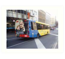 Dunedin City Bus Art Print