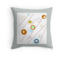 Circles, rods and rings, collectable ART, GIFTS and DECOR Throw Pillow