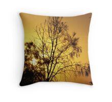 Golden She Oaks Throw Pillow