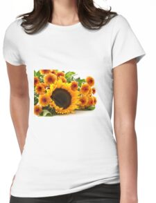 Sun FLowers Womens Fitted T-Shirt