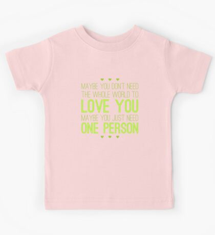 Just One Person Kids Tee