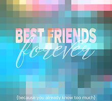 Best Friends Forever Pastel Mosaic Stained Glass by Beverly Claire Kaiya