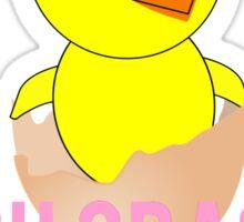 Crack Easter Chicken Sticker