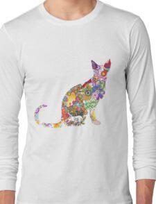 Colourful Kitty Long Sleeve T-Shirt