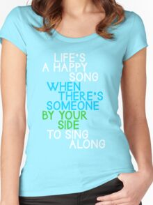 Life's a Happy Song Women's Fitted Scoop T-Shirt