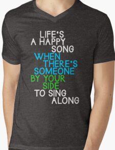 Life's a Happy Song Mens V-Neck T-Shirt