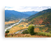 The Paro Valley, Bhutan, Eastern Himalayas Canvas Print