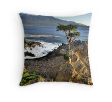 Lone Cypress at Pebble Beach Throw Pillow