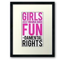 Girls Fundamental Rights Framed Print