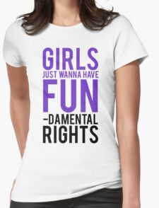 Girls Fundamental Rights Womens Fitted T-Shirt