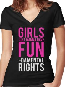 Girls Fundamental Rights Women's Fitted V-Neck T-Shirt