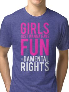 Girls Fundamental Rights Tri-blend T-Shirt
