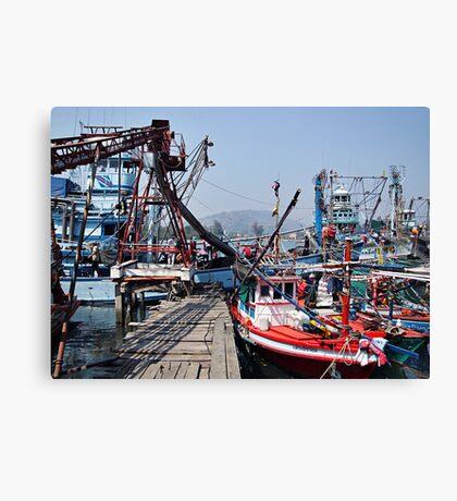 Pak Nam Pran Harbour Canvas Print