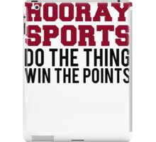 Hooray Sports Win Points iPad Case/Skin