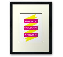 Walt Disney Quote Framed Print