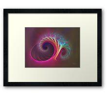 'Hot Pastel Flamesprout' Framed Print