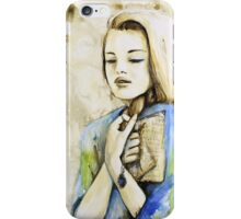 The Words She Holds iPhone Case/Skin