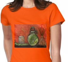 Study: Candle holder,Green Vase & Glass Air Diffuser Womens Fitted T-Shirt