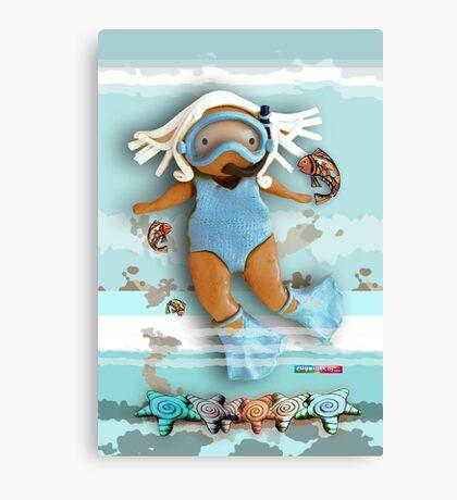 CHUNKIE Diver Canvas Print