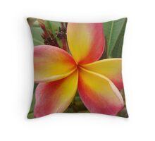 Vibrant Frangipani Throw Pillow