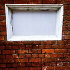White Window In Brick Wall by Michael McGimpsey