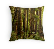 Emerald Paradise Throw Pillow
