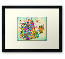 THE PEACOCK DANCE Framed Print