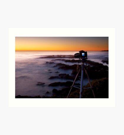 Shooting the sunset :) Art Print