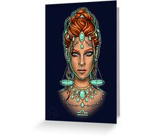 Libra Greeting Card