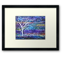 Abstract Landscape tree Framed Print