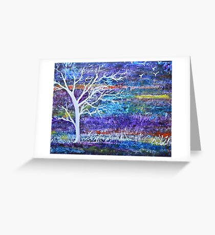 Abstract Landscape tree Greeting Card